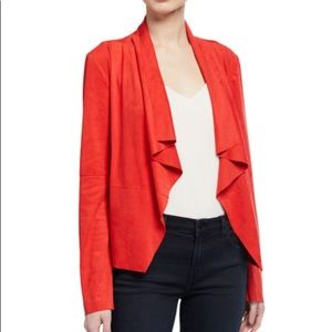 NWT Bagatelle Red Draped Faux-Suede Draped Jacket